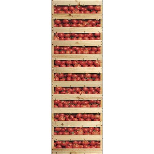 Stickers adhésifs pour porte de frigo avec des Cagettes de Tomates