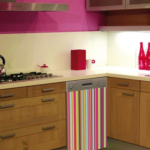 Nos stickers adhésifs pour lave vaisselle Bayadère