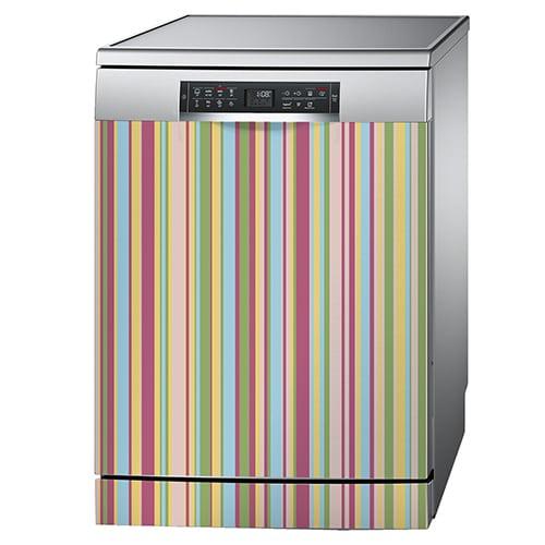 Sticker décoratif pour lave vaisselle Bayadère