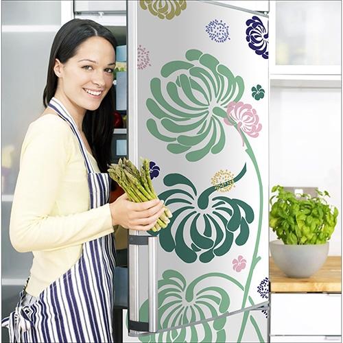 Stickers adhésifs Petite Fleur pour frigo