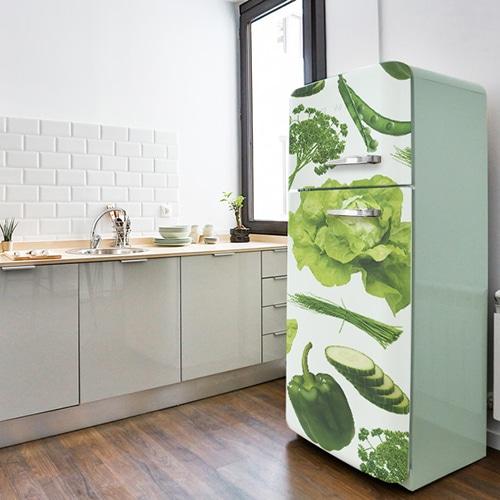 Stickers autocollants pour électroménager Légumes Potager