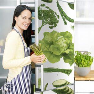 Stickers légumes du potager autocollants pour porte de frigo