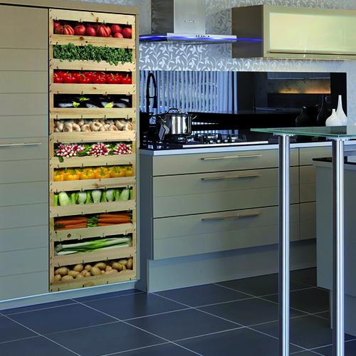 Stickers pour frigo adhésifs cagettes de légumes