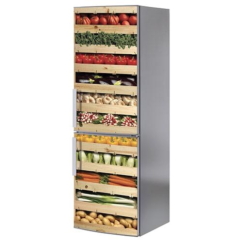 Stickers adhésifs Cagettes de légumes pour frigo