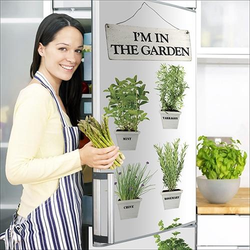 Stickers adhésifs pour électroménager Herbes Aromatiques