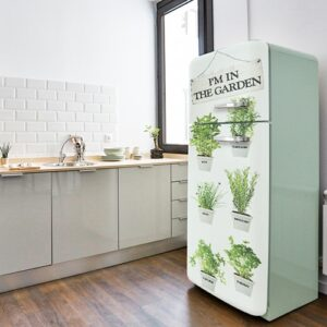 Autocollants Herbes fraiches sur frigo vert pâle