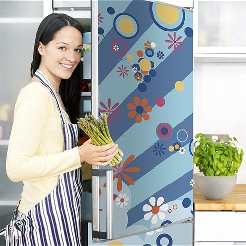 Stickers autocollant pour électroménager Flashy avec cuisinière rangement légumes
