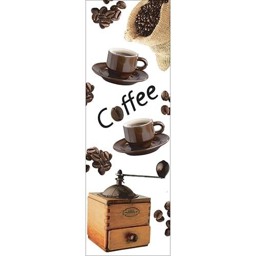 Sticker adhésif pour frigo Coffee