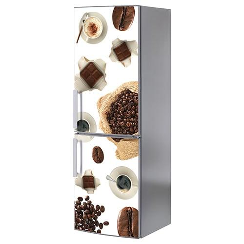 Stickers autocollant Café et chocolat