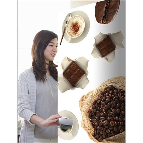 Stickers adhésifs pour frigo café et chocolat