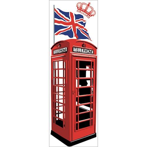Stickers adhésifs pour frigo Cabine Londres