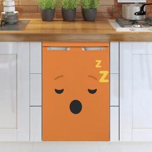 Stickers adhésif pour frigo Smiley Endormi Orange