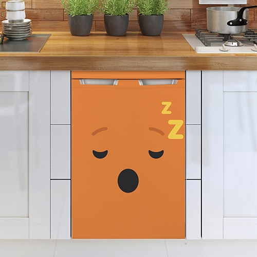 Stickers adhésif pour frigo Smiley Endormi Orange