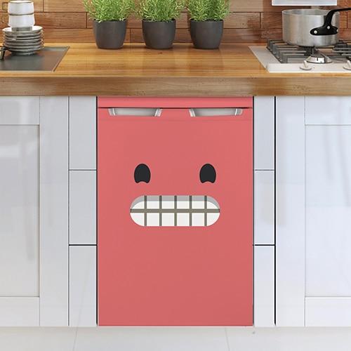 Stickers pour lave vaisselle Smiley adhésif grand sourire rose