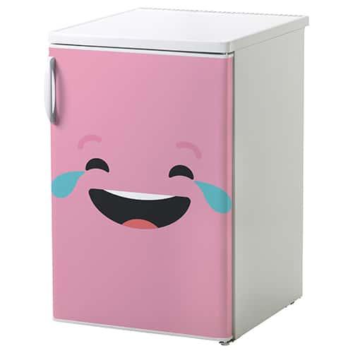 Sticker rose pour électroménager smiley qui pleure de rire