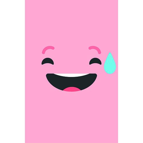 Sticker adhésif pour électroménager Smiley Sourire Géné Rose mis dans une cuisine