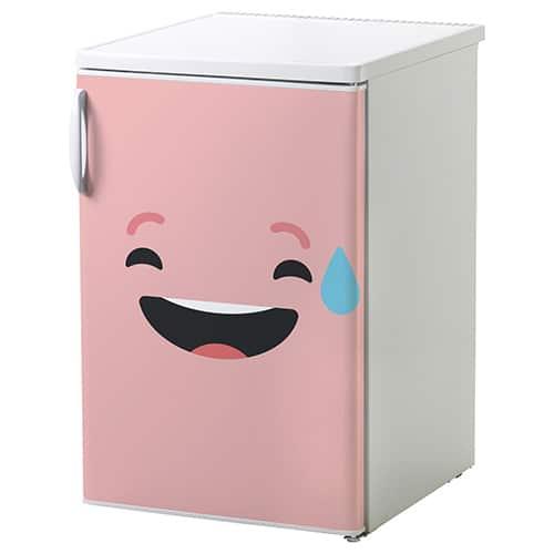 Sticker sur réfrigérateur Smiley Sourire Géné Rose