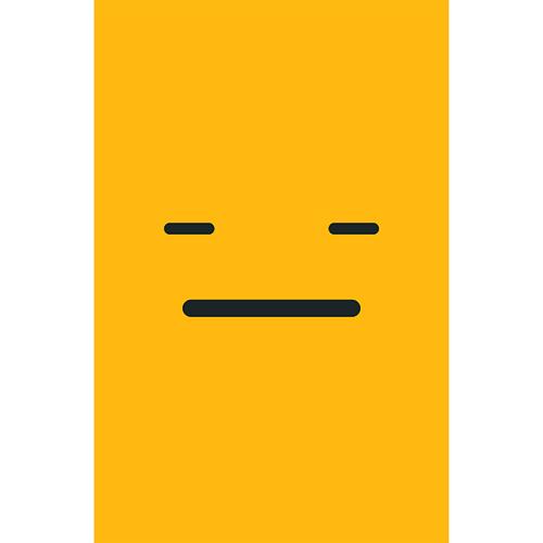 Sticker adhésif électroménager Smiley Blasé jaune