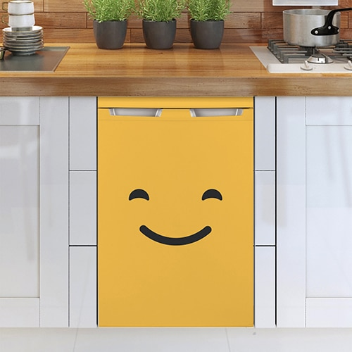 Stickers lave-vaisselle smiley qui sourit orange adhésif