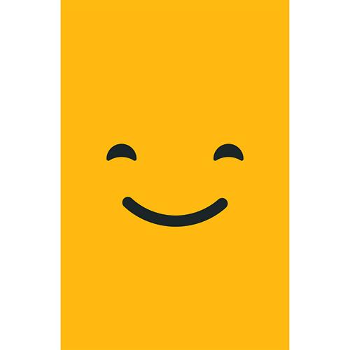 Stickers adhésifs pour petit frigo smiley qui sourit orange