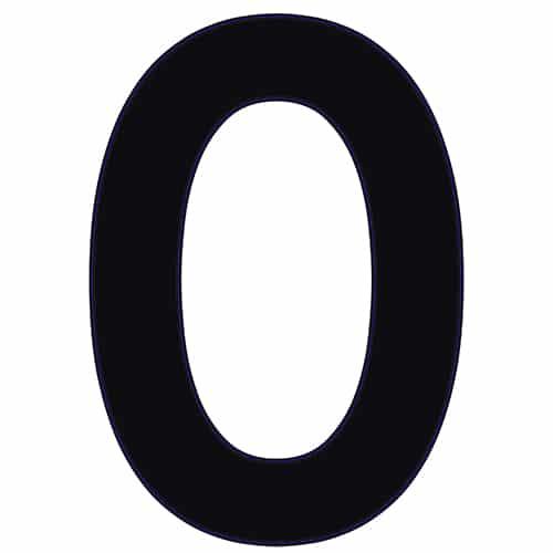 Sticker du chiffre 0