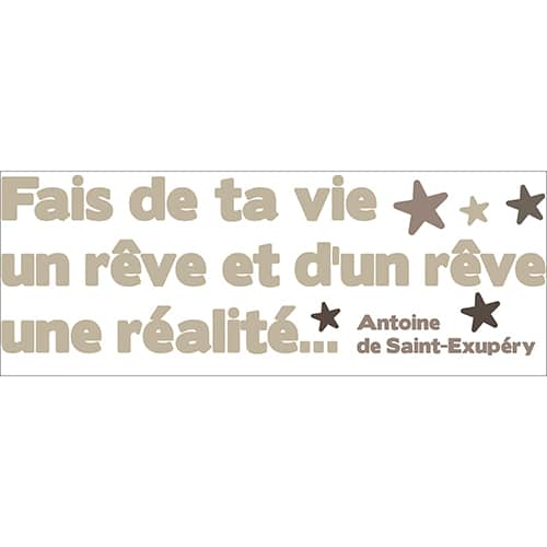 Phrase sticker de Saint-Exupéry à coller
