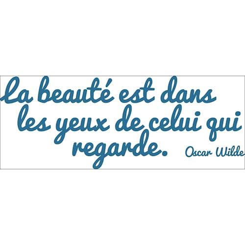 Planche de Sticker citation d'Oscar Wilde