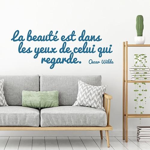 Sticker citation d'Oscar Wilde