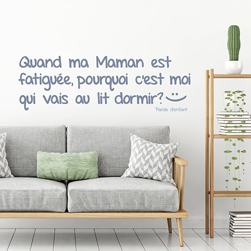Sticker mural citation enfant pour aller dormir