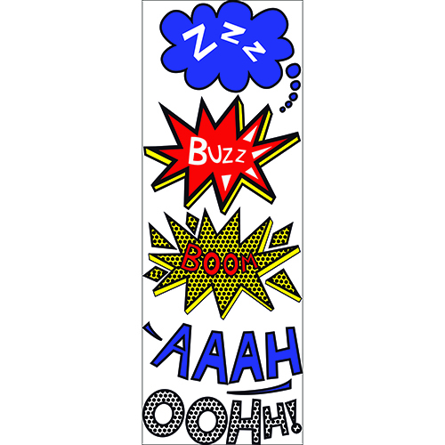 Lot d'autocollant de sticker comics - ZZZ - BOOM - AAAH - OOOHH