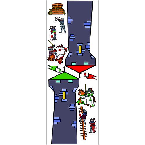 Autocollant de Tour des Chevaliers du Moyen-age