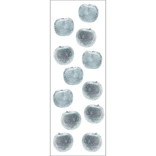 Décoration de Stickers Pommes Argent