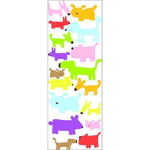 Stickers adhésif de Chiens Colorés pour chambre enfant