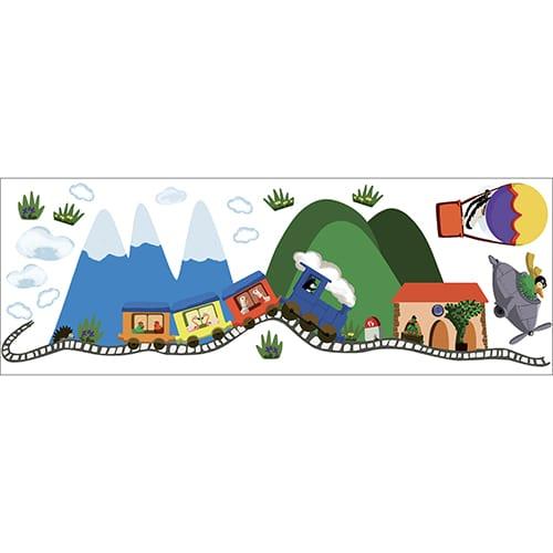 Sticker adhésif d'une train pour enfant à coller au mur