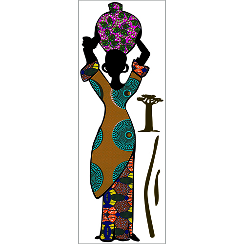 Stickers silhouette femme africaine