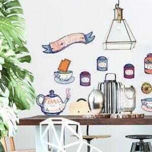 Sticker déco avec Tea time