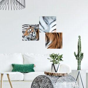 Autocollant mural d'un Tigre mis dans un salon déco
