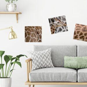 Exemple de déco avec sticker girafe dans un salon