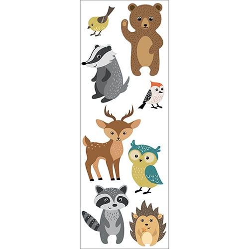 Stickers adhésifs muraux Animaux des bois