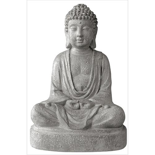 Sticker adhésif Statue de Bouddha gris à coller