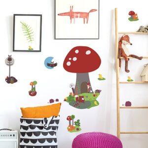 Sticker adhésif lutin de la Forêt dessiné pour les enfants