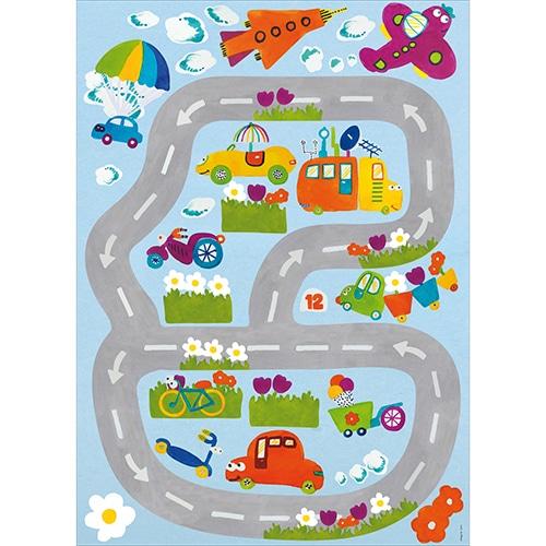 Stickers planche Circuit Automobile pour enfant