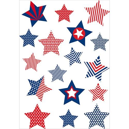 Stickers avec des étoiles ayant pour motif le drapeau des états-unis