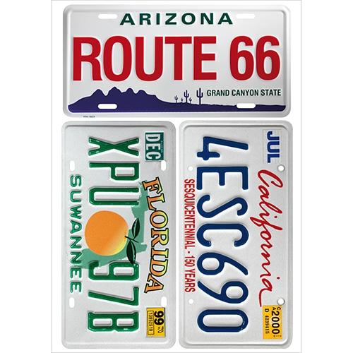 Sticker plaques de voitures américaine de l'état de californie, floride et arizona