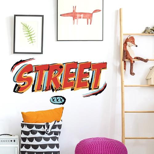 Sticker graffiti avec l'écriteau
