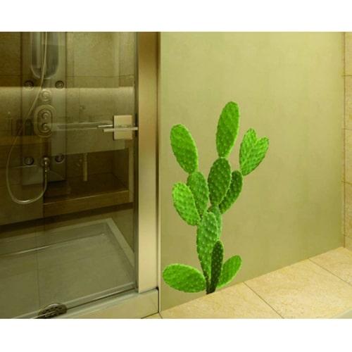 Sticker déco d'un Cactus dans une salle de bain