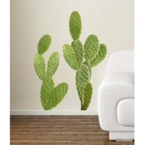 Sticker Planche Géant Cactus Plats dans un salon