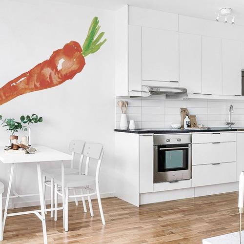 Sticker autocollant carotte