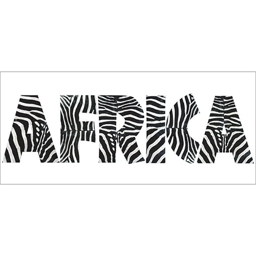 Stickers Muraux Africa autocollant