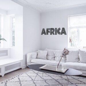 Stickers autocollant Africa dans un salon blanc
